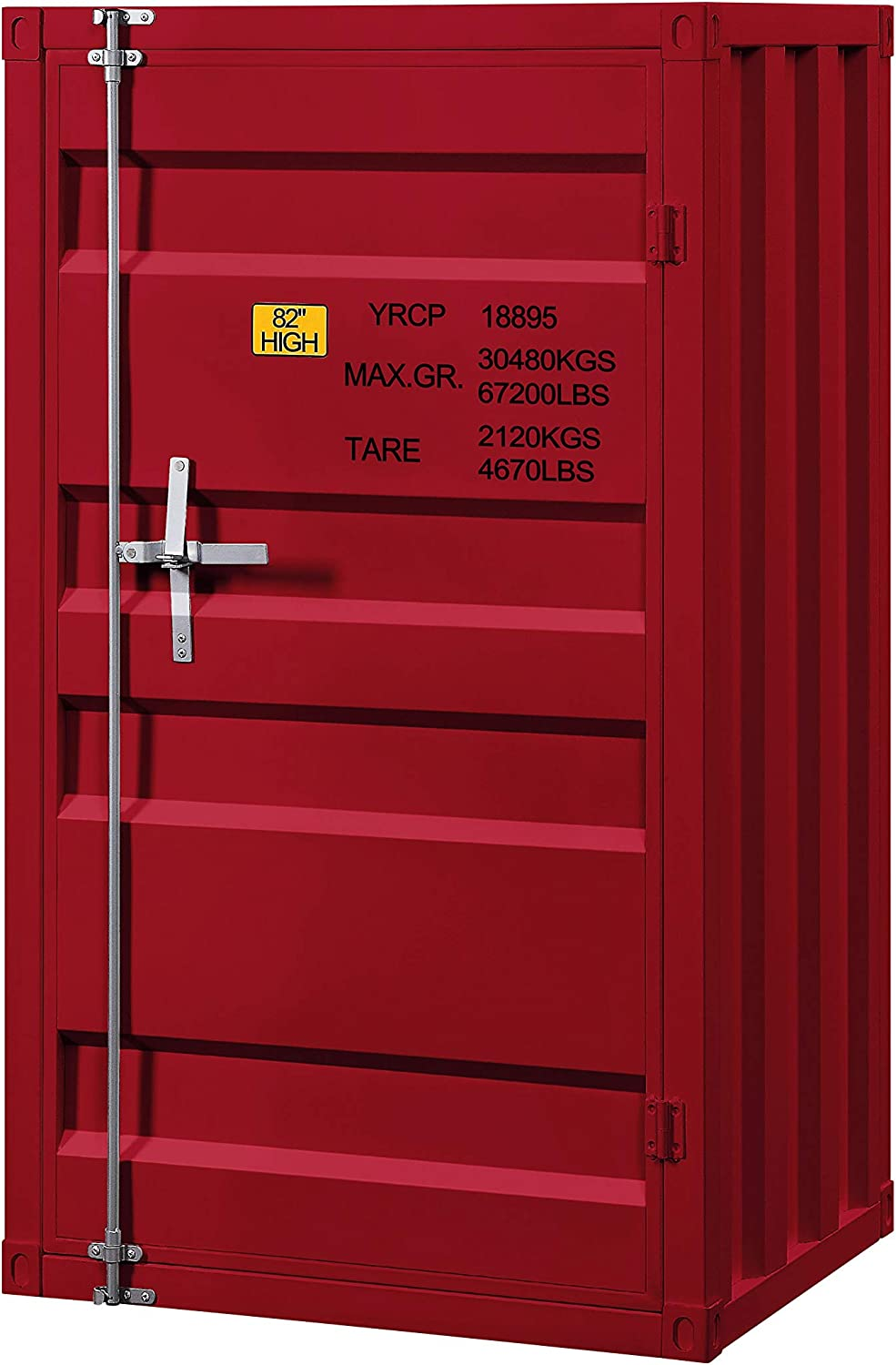 Benjara Spring new work one after another Industrial Style Metal Base Slate Single Door with Popular overseas Chest