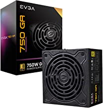 EVGA 220-GA-0750-X1 Super Nova 750 Ga, 80 Plus Gold 750W, Fully Modular, ECO Mode with Dbb Fan, 10 Year Warranty, Compact ...