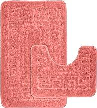 EDS - Anti-slip badmat in Griekse stijl - Set van 2 badmatten - Inclusief 1 badmat (50 × 80 cm) en 1 toiletmat (50 × 40 c...