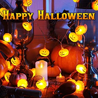 Halloween String Lights, LED Pumpkin Lights, Pumpkin String Lights Battery Powered, Operated Pumpkin Lights for Halloween Party Indoor & Outdoor Decorations