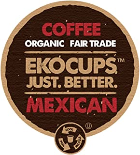 EKOCUPS Mexican Organic Fair Trade Gourment Hot or Iced Coffee Single Serve Cups For Keurig K Cup Brewer, 40 Count