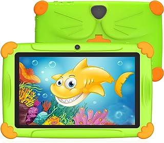 Tablet per Bambini 7 Pollici Android 9.0 Con WiFi 3GB RAM 32GB ROM Quad Core Kid-Proof Angolo Supporto APP Iwawa Netflix G...