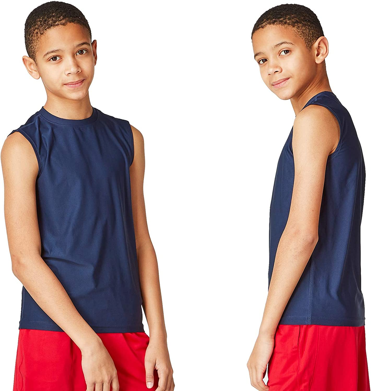 DEVOPS Trust Boys 2 Pack Baselayer Tank Sleeveless Workout Year-end annual account Top