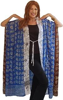 LOTUSTRADERS Patch Gauzy Batik Kimono Jacket M366