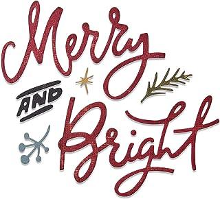 Sizzix Thinlits Die Set 6PK 664739 Merry & Bright by Tim Holtz