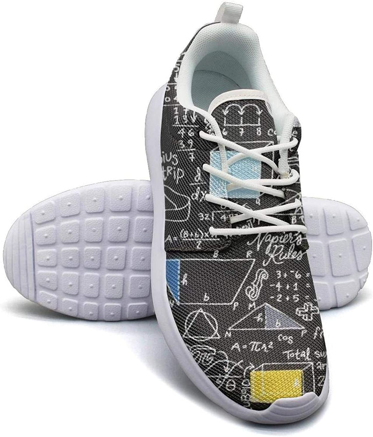 Dhaskhdkl Back to School Math Formula Black Backdrop Girl Canvas Casual shoes Sneakers Low Help Classic Running shoes