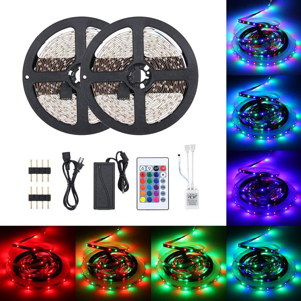 DC12V Ranking TOP5 48W 10 Meters 600 Outlet ☆ Free Shipping LED RGB Light Strip Sensitive with IR24