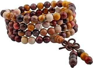 mookaitedecor Braccialetto elastico con 108 perline, buddista, collana tibetana tibetana, collana con Buddha Mala per cris...