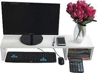 EVST Soporte de Madera para Ordenador portátil TV Pantalla Elevador Escritorio Organizador 80 cm
