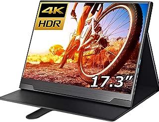 cocopar 17.3インチ/4K(3840x2160)/モバイルモニター/モバイルディスプレイ/薄型/非光沢/IPSパネル/USB Type-C/標準HDMI/mini DP/HDR対応/カバー付 (厚さ12mm/重さ980g)【3年保証】
