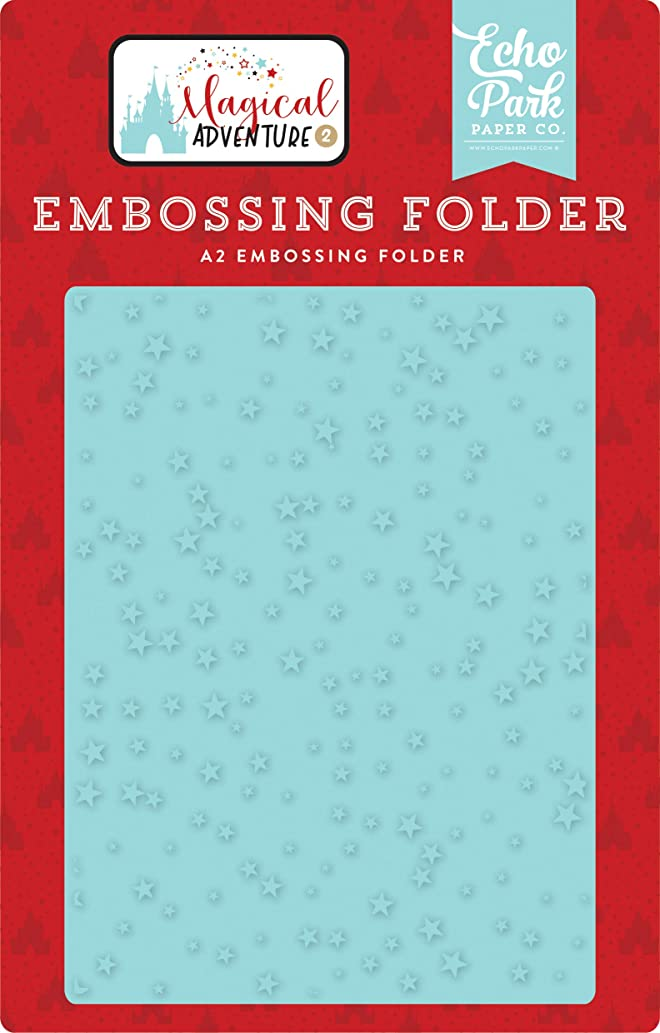 Echo Park Paper Company MAG177031 Make A Wish Embossing Folder Black, red, Yellow, Teal, Kraft