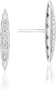 SE229 The Ivy Lane Sterling Silver Diamond Stud Earrings (0.11 cttw, H-I Color, I2-I3 Clarity)
