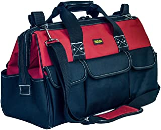 HUIJIA 15-inch Tool Organizer Bags Wide Mouth Waterproof Heavy Duty Tool Bag with Water Proof Molded Base (M, 15''x10''x7'')
