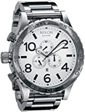 Nixon Men's A083-100 Stainless-Steel Analog White Dial Watch