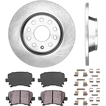Front Quality 312 mm Replacement Brake Disc Rotors and Ceramic Pads For TT VW