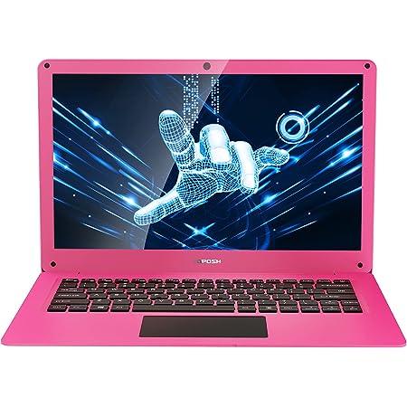 TOPOSH Ordenador Portátil de 12,5 Pulgadas, 4 GB de RAM + 64 GB SSD Intel Celeron N3350 Dual-Core Gráfico 1.1 GHz, Portátil con Teclado US-Rosa