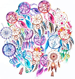 June Bohemian Dream Catcher Feathers Bundle Stickers (Big Size) | Trendy Waterproof Decals for Phone Cases, Laptops, Water Bottles | Cool Sticker for Bullet Journals, Scrapbook, Planners Craft(27 pcs)