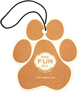 One Fur All Pet House Car Air Freshener, Pack of 4 – Pina Colada - Non-Toxic Auto Air Freshener, Pet Odor Eliminating Air Freshener for Car, Ideal for Small Spaces, Dye Free Dog Car Air Freshener