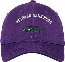 Custom LowProfileSoft Hat Uh-60 Blackhawk Embroidery Veteran Name Cotton
