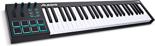 Alesis V49 | 49 Key USB MIDI Keyboard Controller with 8 Backlit Pads, 4 Assignable Knobs and Buttons, Plus a Professi...