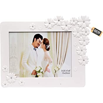 GiftnGlory White Flower Photo Frame | Happy Gifting