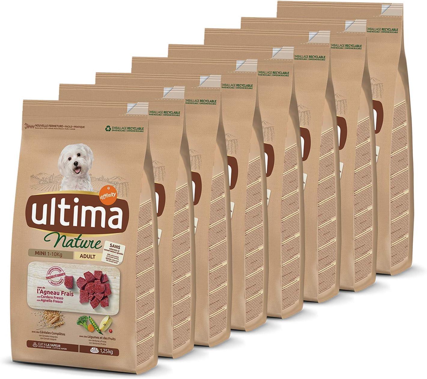 Ultima Nature No Grain Pienso para Perros Mini sin Cereales con Pavo, Pack de 8 x 1.1kg - Total: 8.8Kg