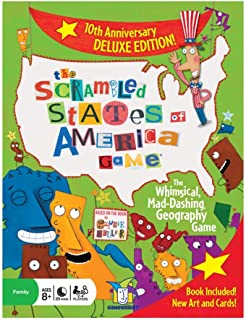 Gamewright The Scrambled States of America Game 10th Anniversary Deluxe Edition
