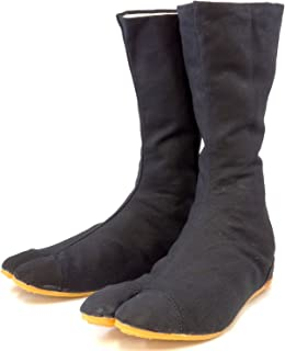 Ninja Shoes, Jikatabi, Rikkio Tabi Boots(US 5~12) Black / White!! +Travel bag (US 12 (30cm), Black)