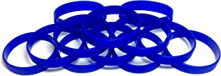blue silicone wristbands