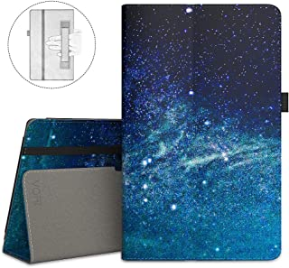 VORI Folio Case for All-New Amazon Fire HD 8 Tablet (8th/7th/6th Generation, 2018/2017/2016 Release), Slim Premium PU Leather Stand Protective Cover with Auto Wake/Sleep, Galaxy