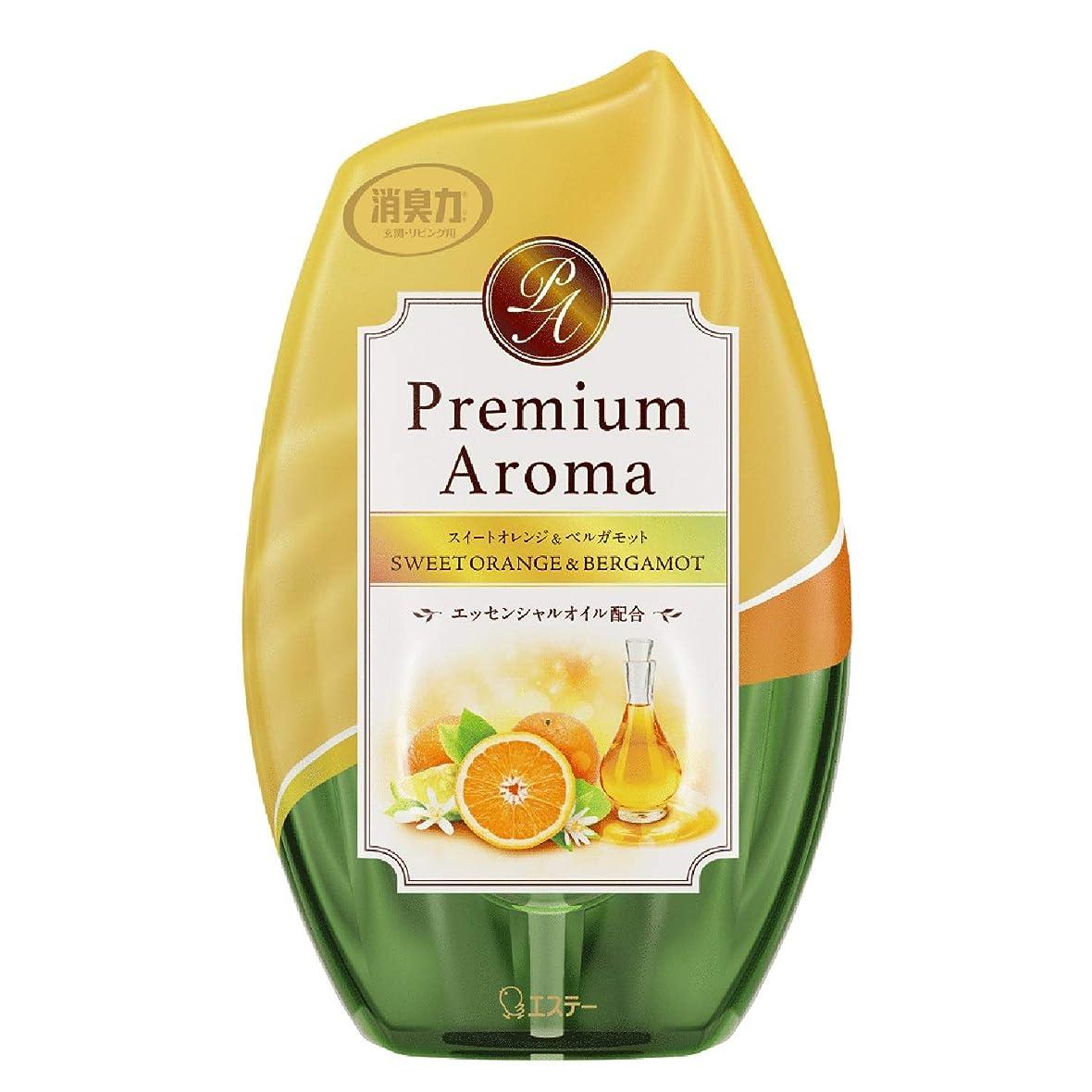 進捗証人生物学お部屋の消臭力 プレミアムアロマ Premium Aroma 消臭芳香剤 部屋用 部屋 スイートオレンジ&ベルガモットの香り 400ml