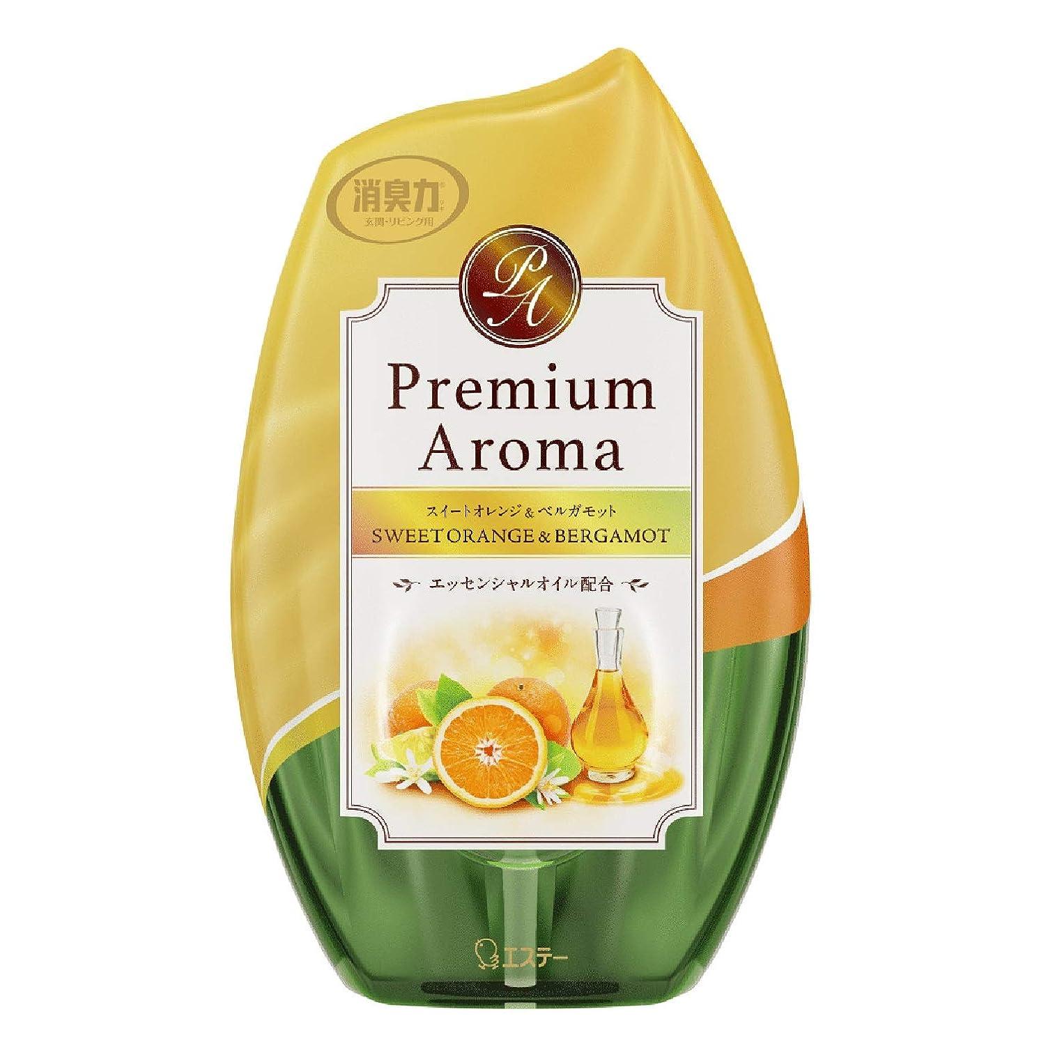 傷跡対角線グレーお部屋の消臭力 プレミアムアロマ Premium Aroma 消臭芳香剤 部屋用 部屋 スイートオレンジ&ベルガモットの香り 400ml