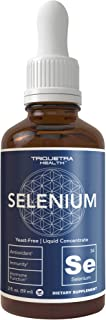 Selenium - 200 mcg, Selenomethionine Form (300 Servings) - Vegan, Glass Bottle, Yeast Free - Sublingual Liquid Concentrate...