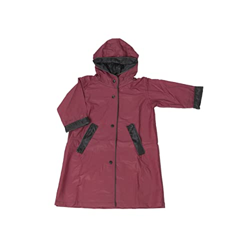 Zip in Hood Fit Rite Mens Nylon Hooded Waterproof Long Lightweight Waterproof Raincoat Full Length Rain Jacket