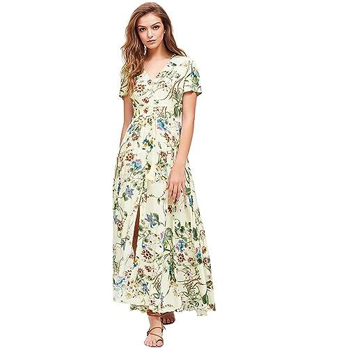 6475333b58ff3 Yellow Floral Print Dresses: Amazon.com