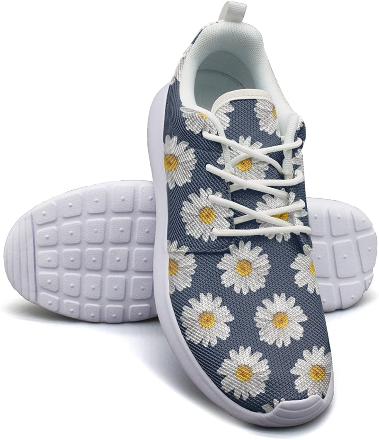 ERSER Daisy Pattern On Navy Weighted Running shoes Women