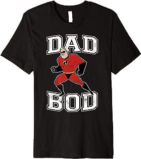 Pixar Incredibles Mr. Incredible Dad Bod Portrait Premium T-Shirt