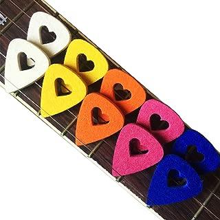MIBOW Ukulele Picks 10 Pieces Guitar Picks Colorful Felt Picks for Guitar,Bass,Ukulele,Mandolin,Banjo