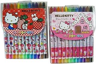 5c3285f49 Sanrio Hello Kitty Crayon Set - Hello Kitty Crayon Stick Stationary Supplies  Pack (12 Crayons