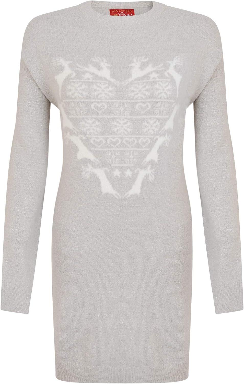Women/'s Christmas Jumper Pullover Loose Sweatshirt Ladies Xmas Dress Blouse Tops