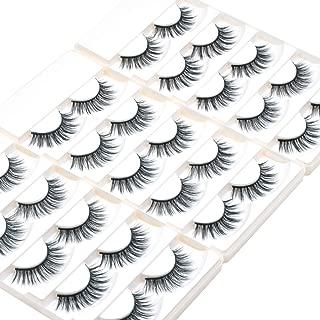 Wleec Beauty 3D Silk Lashes Handmade Natural False Eyelash Pack #3D/19 (15 Pairs/3 Pack)