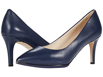 Cole Haan Grand Ambition Pump (75 mm) (Marine Blue Leather/Black Sole Edge/Marine Blue/Gold) Women