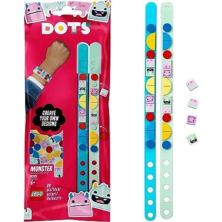 LEGO 41923 Dots LesBraceletsMonstres, Bijoux de Poignet avec tuiles et Perles Cadeaux de Bricolage, Arts et Artisanat pour Les Enfants