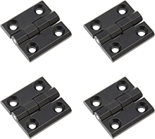 Befenybay 4PCS Cabinet Gate Closet Door 40mm x 40mm Length Zinc Alloy Ball Bearing Butt Hinge Black