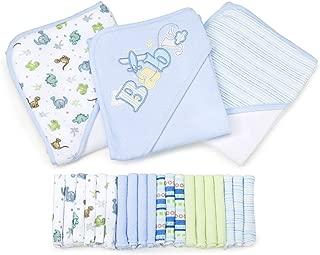 Spasilk 23-Piece Essential Baby Bath Gift Set, Blue