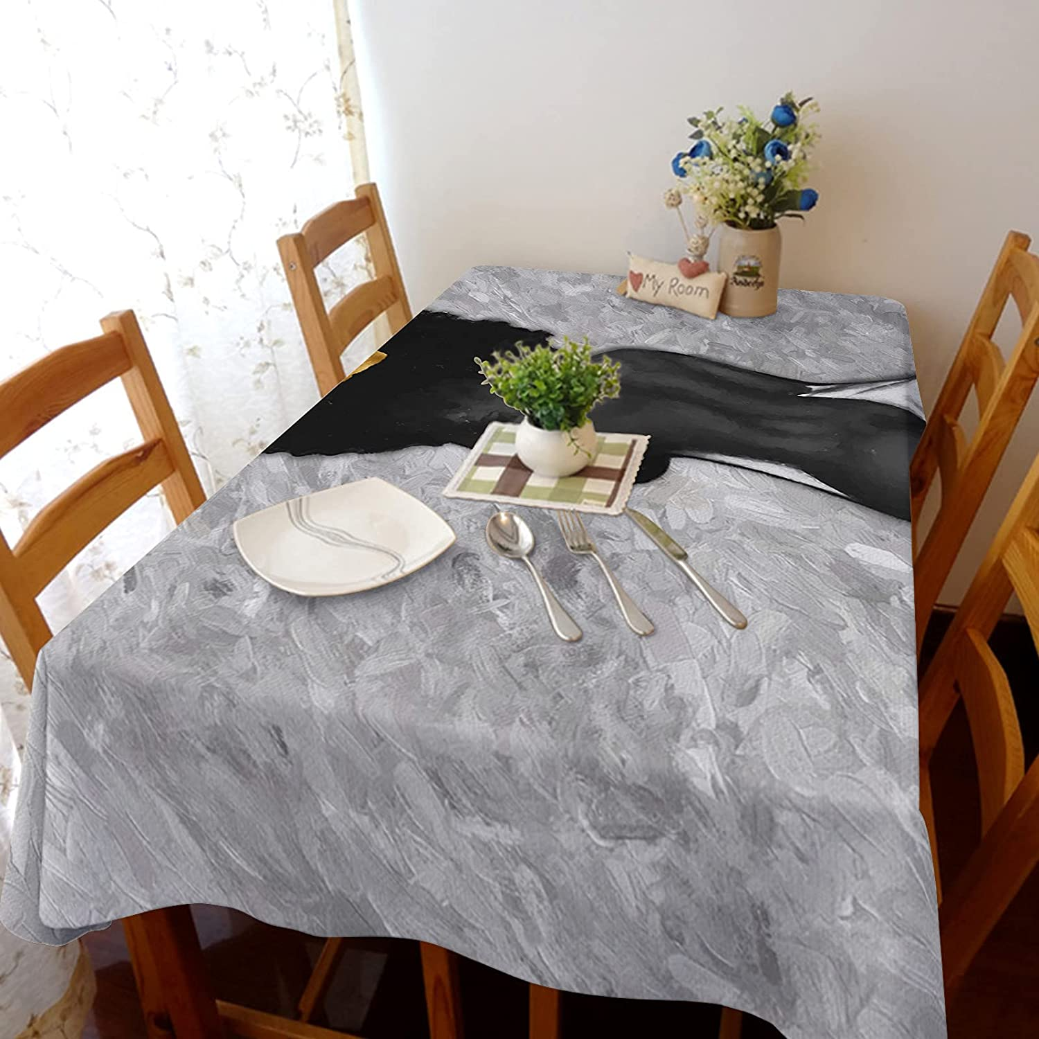 Arts Language Tablecloth for Square Black Round Sexy Table Ranking TOP17 Girl All items in the store