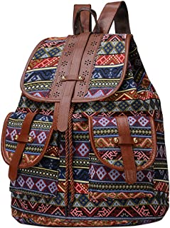 SUGEER 2019 Style Ethnic Backpack Casual Canvas Thai Cotton Hippie Hobo Sling Crossbody Bag Messenger Purse