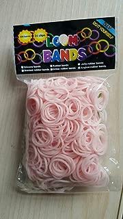 Loom Rubber Bands Refills for Loom Rainbow Bracelet Dress Making Skin Tone 500 Bands + 25 Plastic Clasps (Skin Tan color)