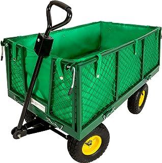 TecTake Carro de Transporte Carretilla de Mano de Jardin