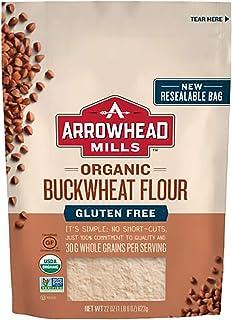 Arrowhead Mills Organic Buckwheat Flour Bag, Gluten Free, 132 Oz, Pack of 6